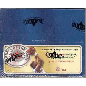 2001/02 Fleer Greats Of The Game Basketball 20 Pack Box