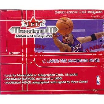 2001/02 Fleer Maximum Basketball Hobby Box