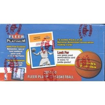 2001/02 Fleer Platinum Basketball Jumbo Box