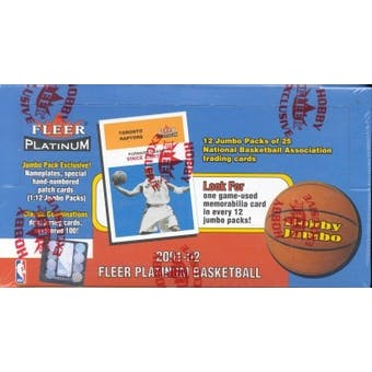 2001/02 Fleer Platinum Basketball Jumbo Box