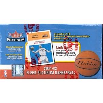 2001/02 Fleer Platinum Basketball Hobby Box