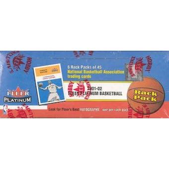 2001/02 Fleer Platinum Basketball Rack Box