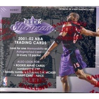2001/02 Fleer Showcase Basketball Hobby Box