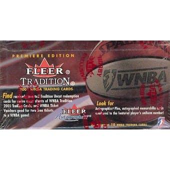 2001 Fleer Tradition WNBA Basketball Wax Box