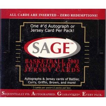 2001/02 Sage Autographed Basketball Hobby Box