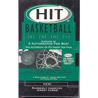 2001/02 Sage Hit Basketball Hobby Box