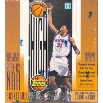 2001/02 Topps High Topps Basketball Hobby Box