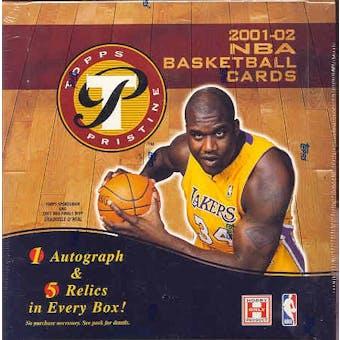 2001/02 Topps Pristine Basketball Hobby Box