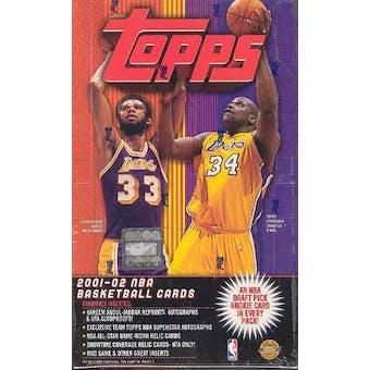 2001/02 Topps Basketball Jumbo Box