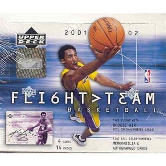 2001/02 Upper Deck Flight Team Basketball Hobby Box