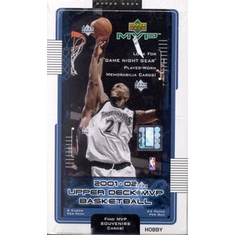 2001/02 Upper Deck MVP Basketball Hobby Box
