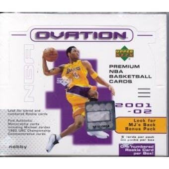 2001/02 Upper Deck Ovation Basketball Hobby Box