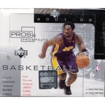 2001/02 Upper Deck Pros & Prospects Basketball Hobby Box