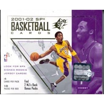 2001/02 Upper Deck SPx Basketball Hobby Box