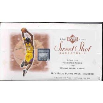 2001/02 Upper Deck Sweet Shot Basketball Hobby Box
