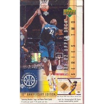 2001/02 Upper Deck Series 2 Basketball Hobby Box
