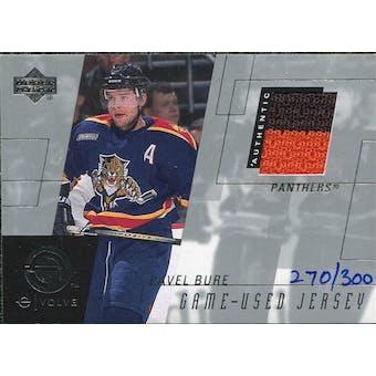 2000/01 Upper Deck e-Card Prizes #EPB Pavel Bure Multi Color Jersey /300