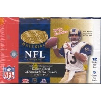 2001 Leaf Certified Materials Football Hobby Box