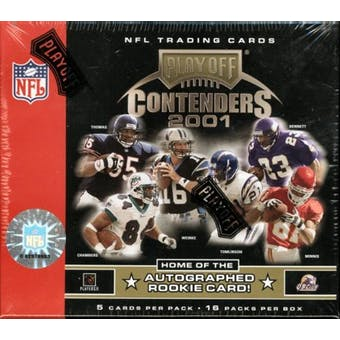 2001 Playoff Contenders Football Hobby Box