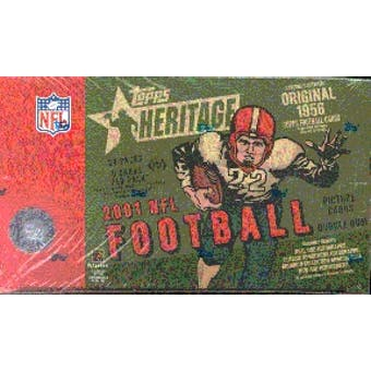 2001 Topps Heritage Football Hobby Box