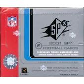 2001 Upper Deck SPx Football Hobby Box