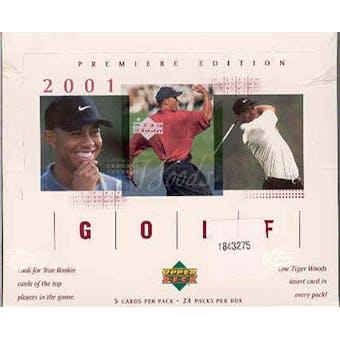 2001 Upper Deck Golf Retail Box - Tiger Woods Rookie!