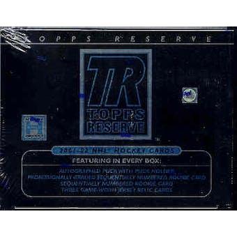 2001/02 Topps Reserve Hockey Hobby Box