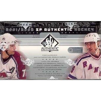 2001/02 Upper Deck SP Authentic Hockey Hobby Box