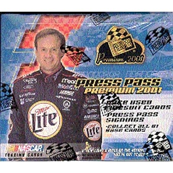 2001 Press Pass Premium Racing Hobby Box