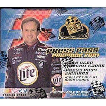2001 Press Pass Premium Racing Hobby Box