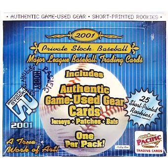 2001 Pacific Private Stock Baseball Hobby Box