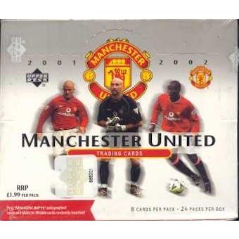 2002 Upper Deck Manchester United Soccer UK Version Hobby Box