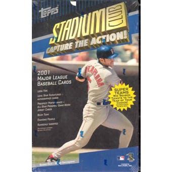 2001 Topps Stadium Club Baseball 24 Pack Box