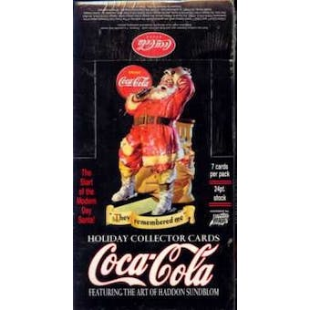 2001 Comic Images Coca-Cola Holiday Collector Cards Hobby Box