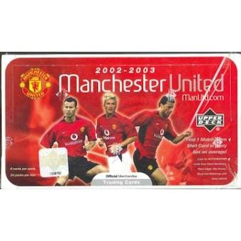 2002 Upper Deck Manchester United Soccer Hobby Box