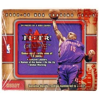 2002/03 Fleer Genuine Basketball Hobby Box