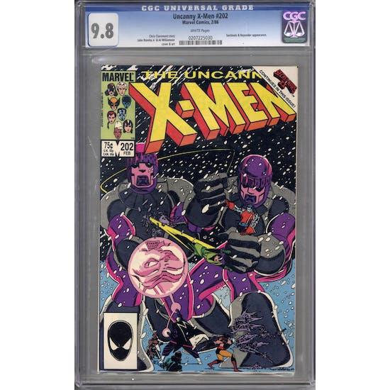 Uncanny X-Men #202 CGC 9.8 (W) *0207225030*