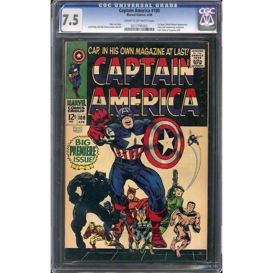 Captain America #100 CGC 7.5 (C-OW) *0217796002*
