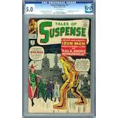 Tales of Suspense #43 CGC 5.0 (OW) *0222449013*
