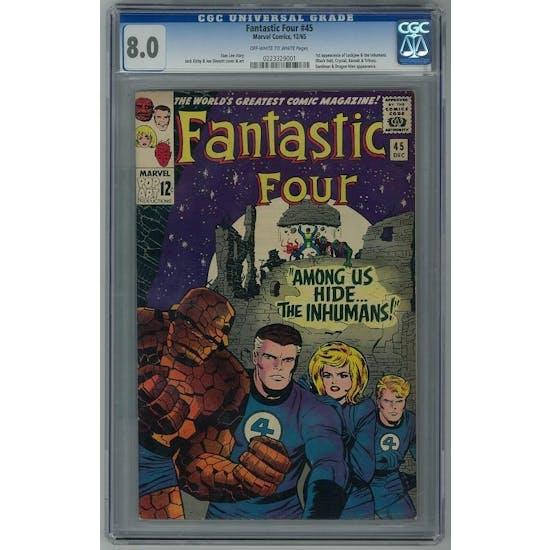 Fantastic Four #45 CGC 8.0 (OW-W) *0223329001*