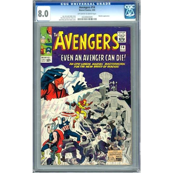 Avengers #14 CGC 8.0 (OW-W) *0224943009*