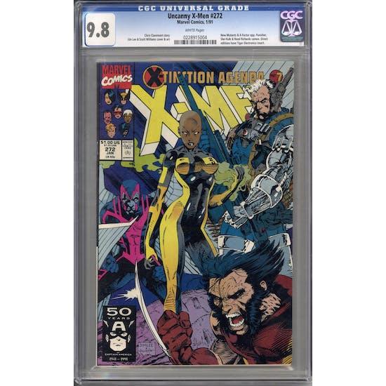 Uncanny X-Men #272 CGC 9.8 (W) *0228915004*