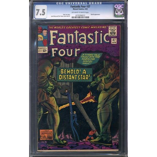 Fantastic Four #37 CGC 7.5 (OW-W) *0270394012*