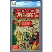 Avengers #1 CGC 4.5 (OW-W) *0285048003*