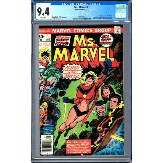 Ms. Marvel #1 CGC 9.4 (W) *0286467010*