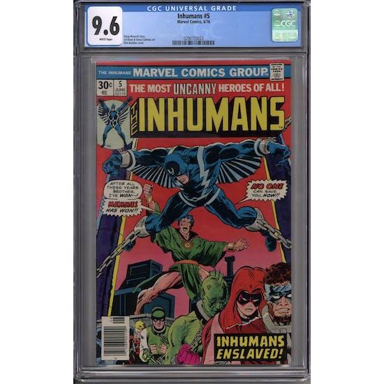Inhumans #5 CGC 9.6 (W) *0290733023*
