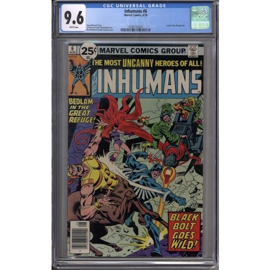 Inhumans #6 CGC 9.6 (W) *0290733024*