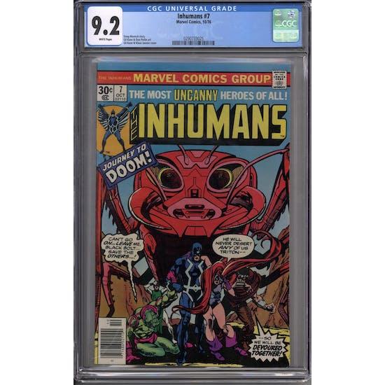 Inhumans #7 CGC 9.2 (W) *0290733025*