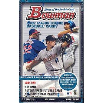 2002 Bowman Baseball Jumbo Box