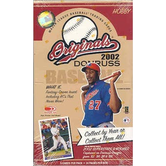 2002 Donruss Originals Baseball Hobby Box